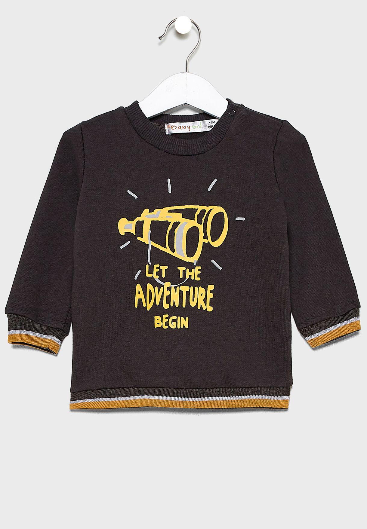 Infant Printed Sweatshirt + Sweatpants Set