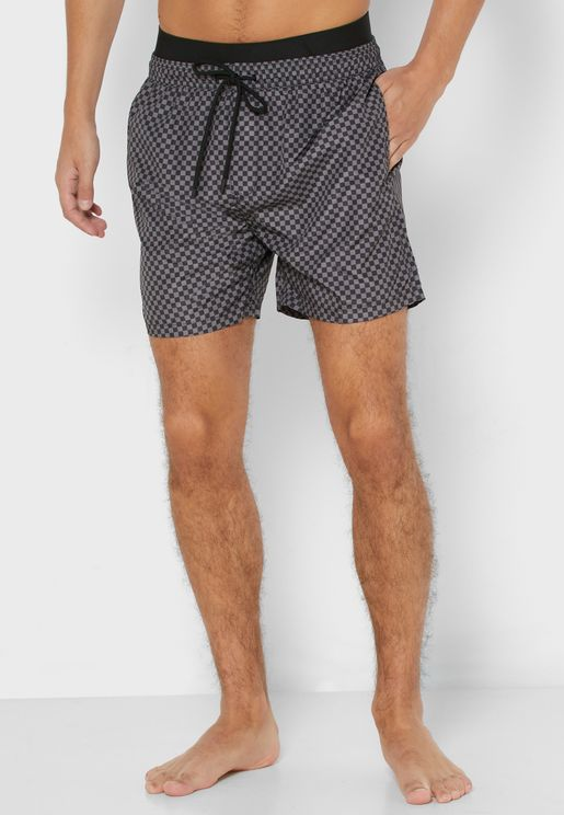 Square Print Swim Short