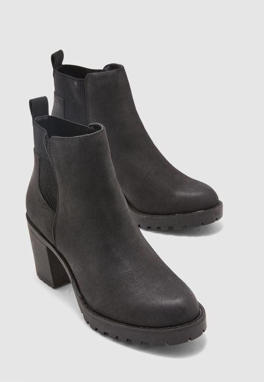 Barbara Heel Booties