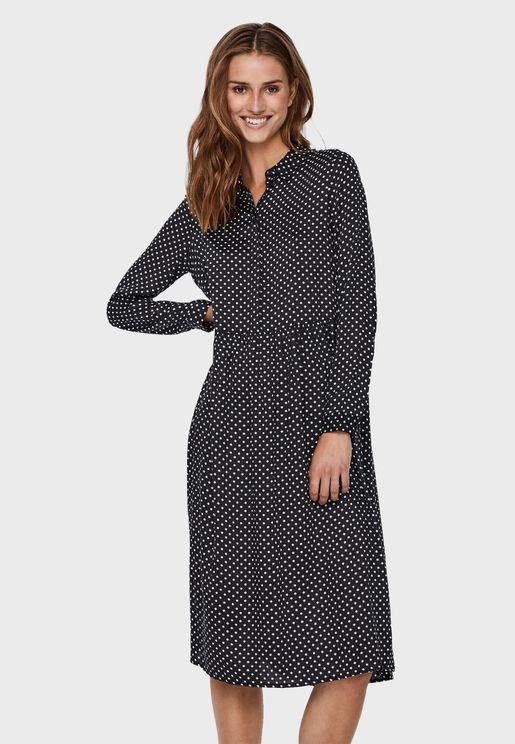 Textured Placket Dress