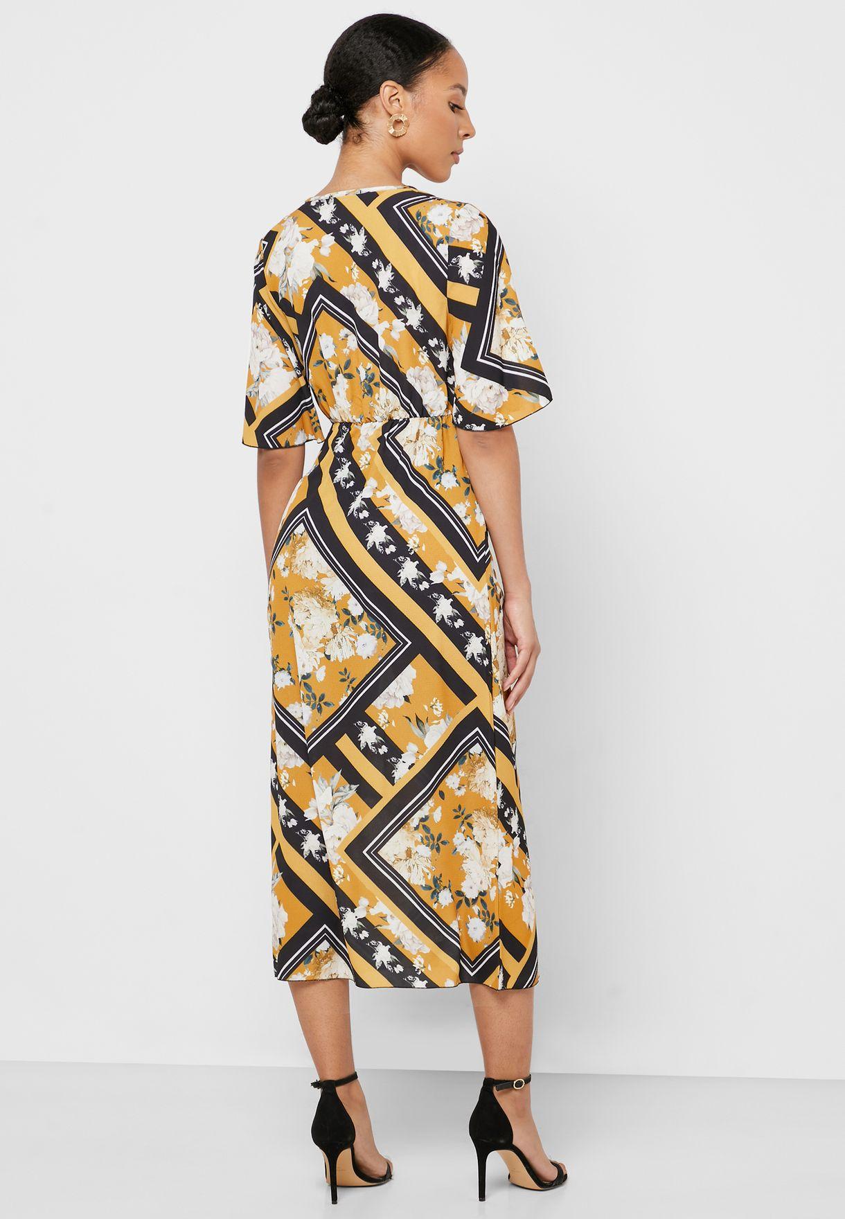 فستان لف مطبع