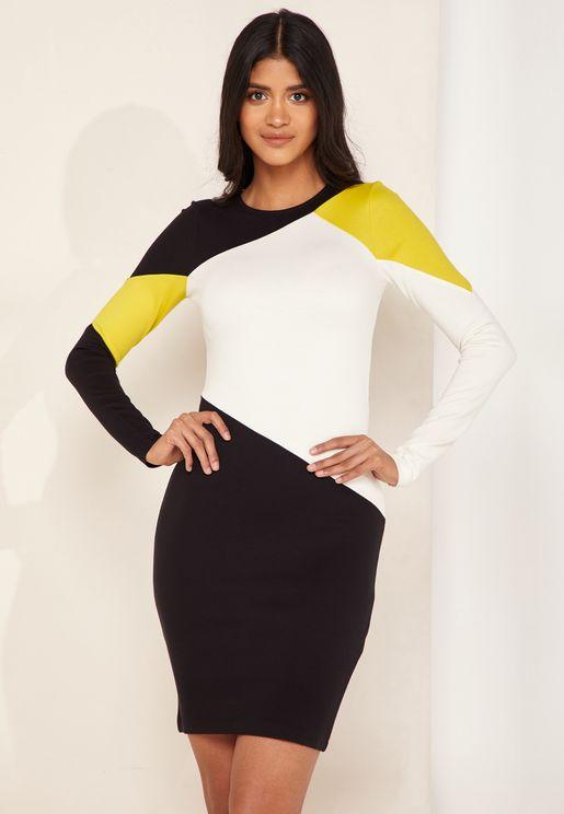 Colourblock Bodycon Dress