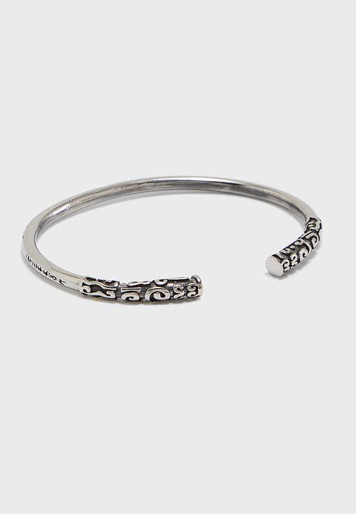 4e693b9a3be6 Engraved Edge Cuff Bracelet