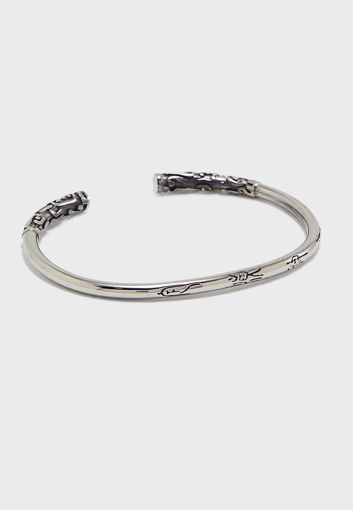 Engraved Edge Cuff Bracelet