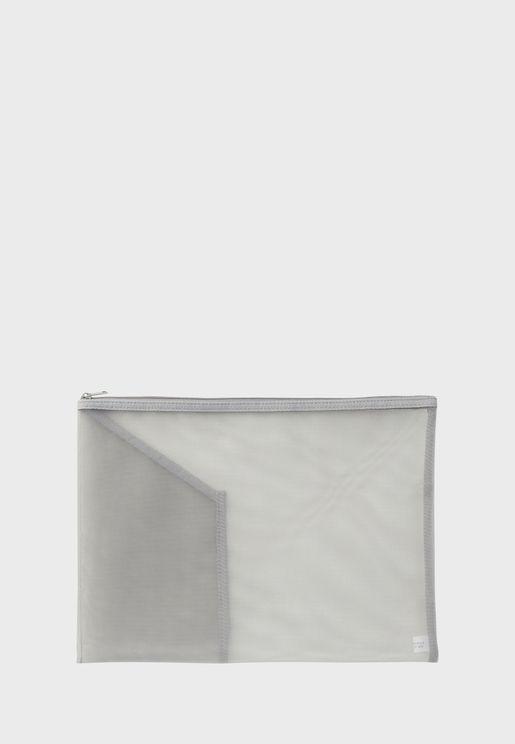Nylon Mesh Document Case With Pocket