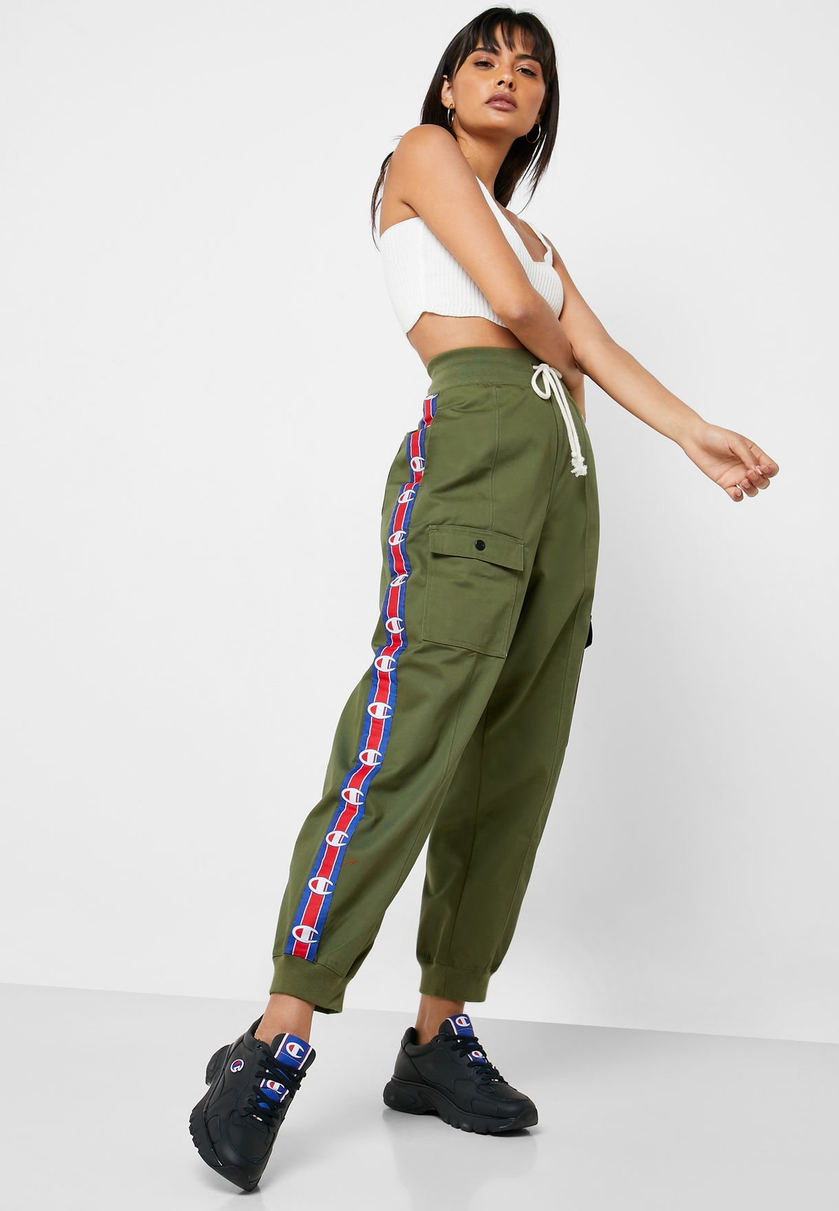 innovative design shades of beauty Logo Taped Cargo Pants