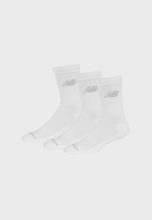 3 Pack Performance Crew Socks