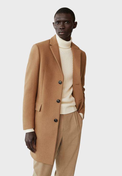 معطف طويل بأزرار