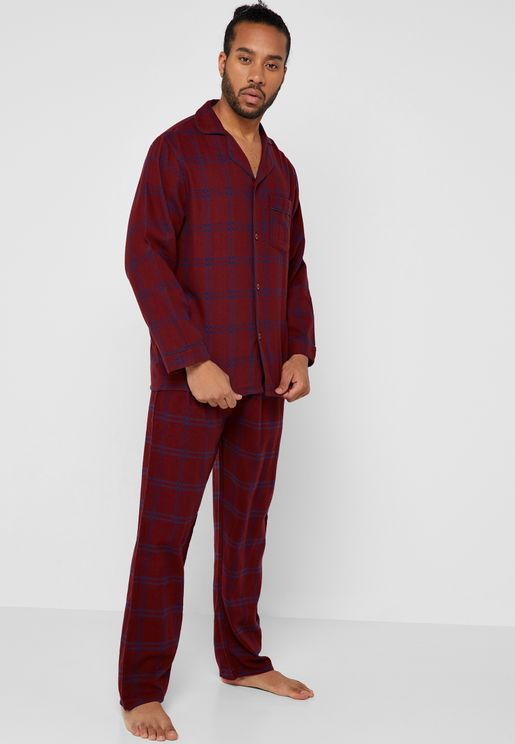 ef8dfa7380 Checked Shirt Pyjama Set. Lounge District