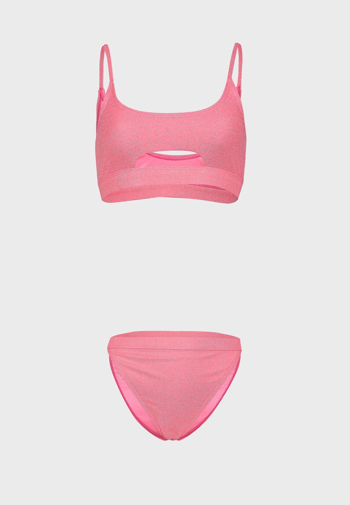 Cut Out Bikini Top & Bottom Set