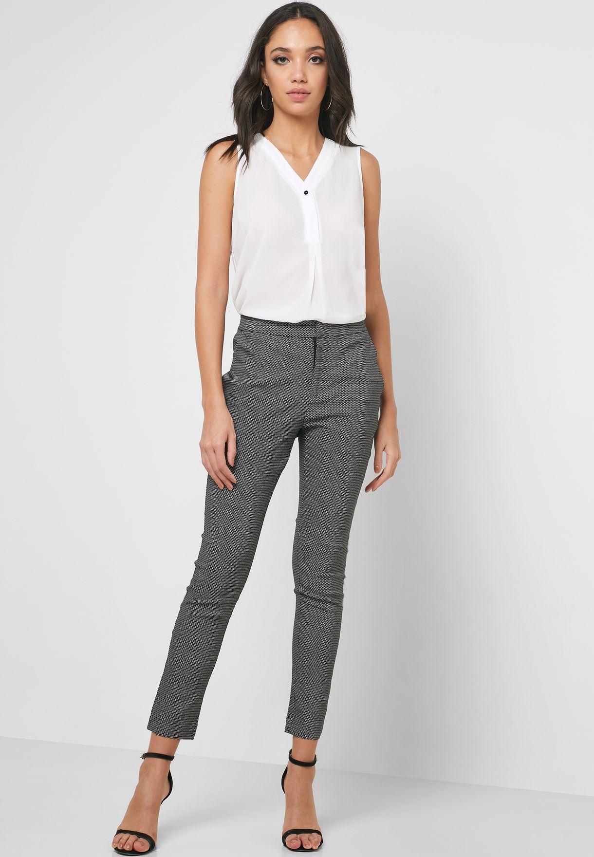 Printed Slim Fit Pants