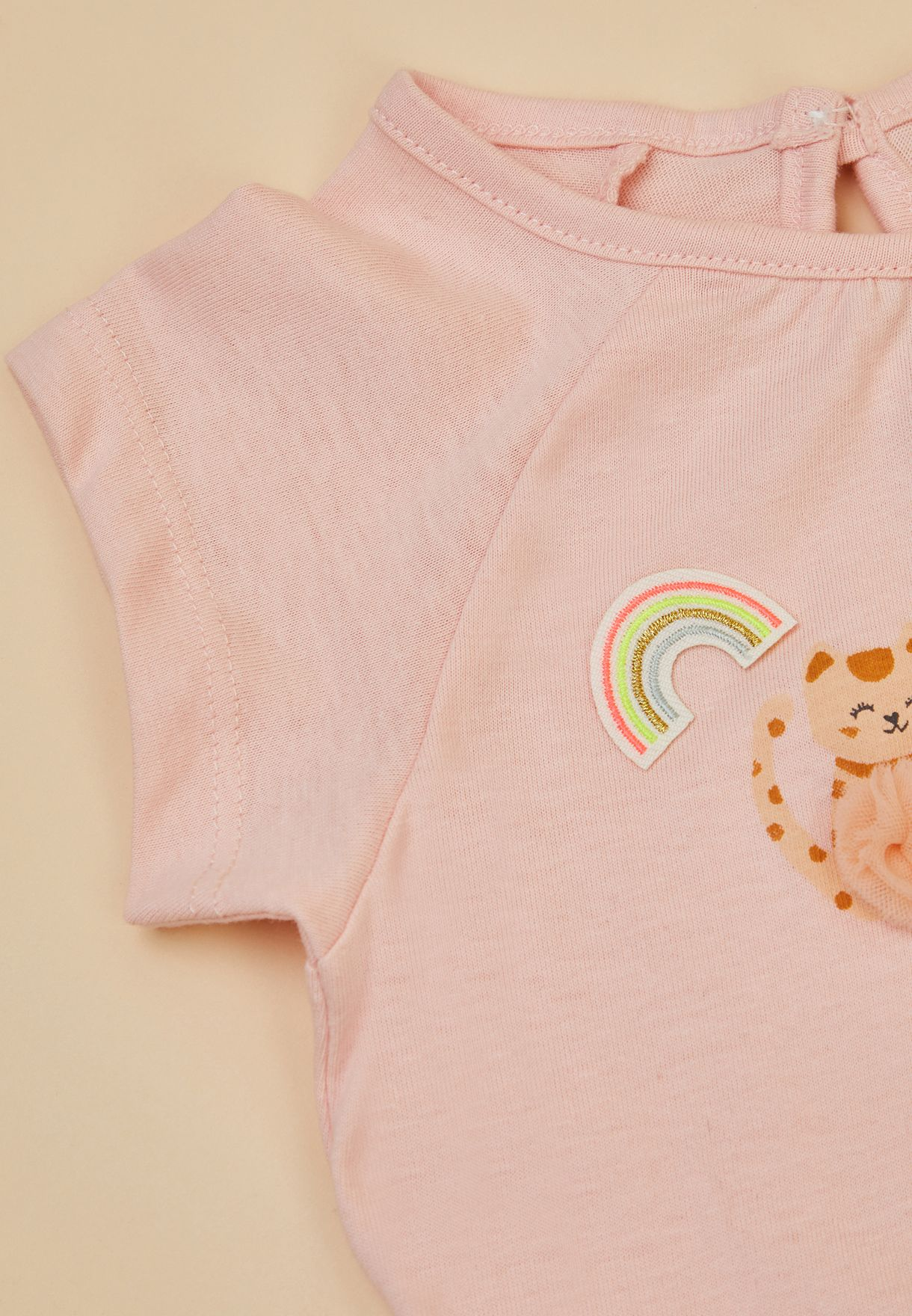Kids Iron On Rainbow Patch