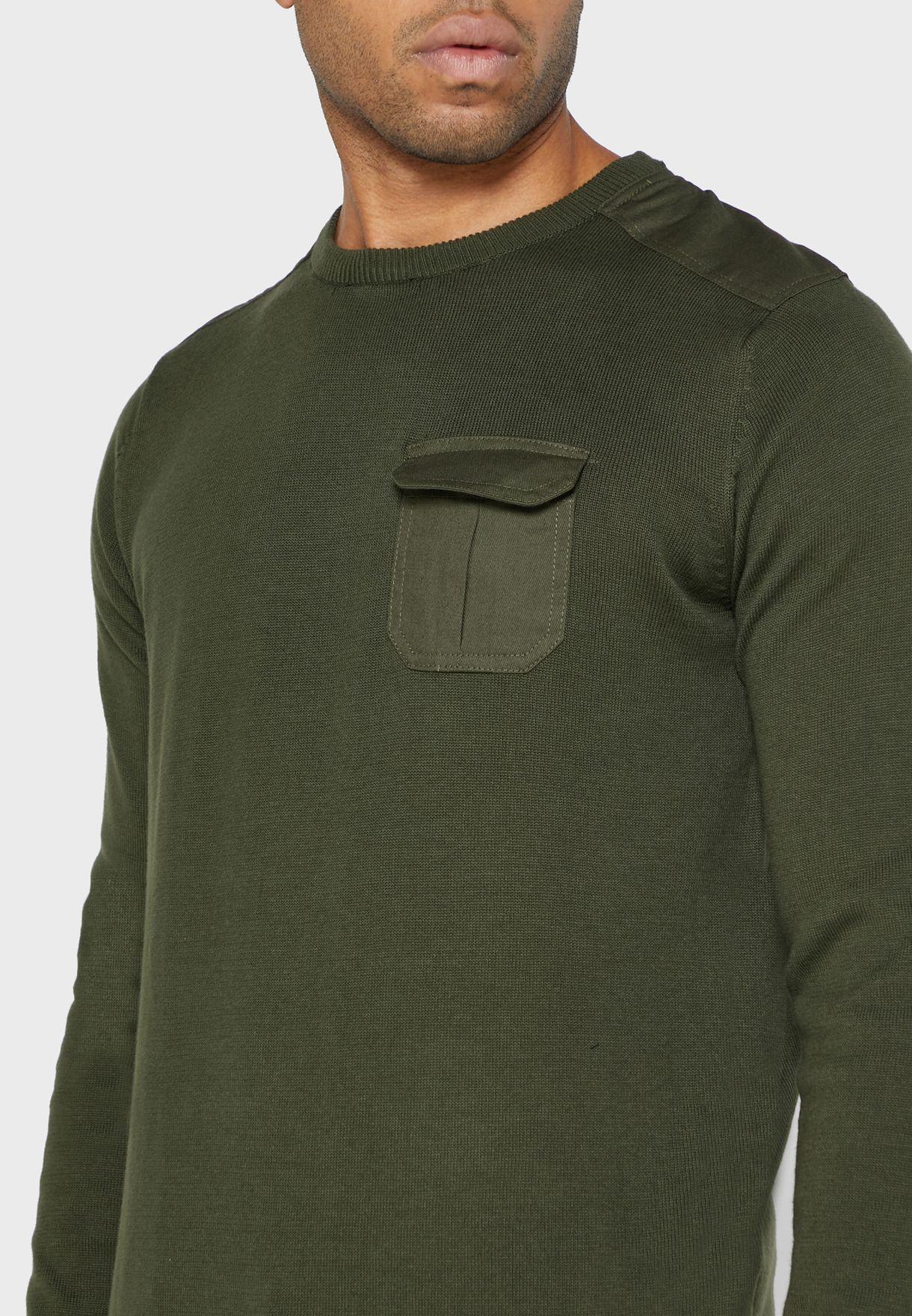 Chest Pocket Detail Jumper