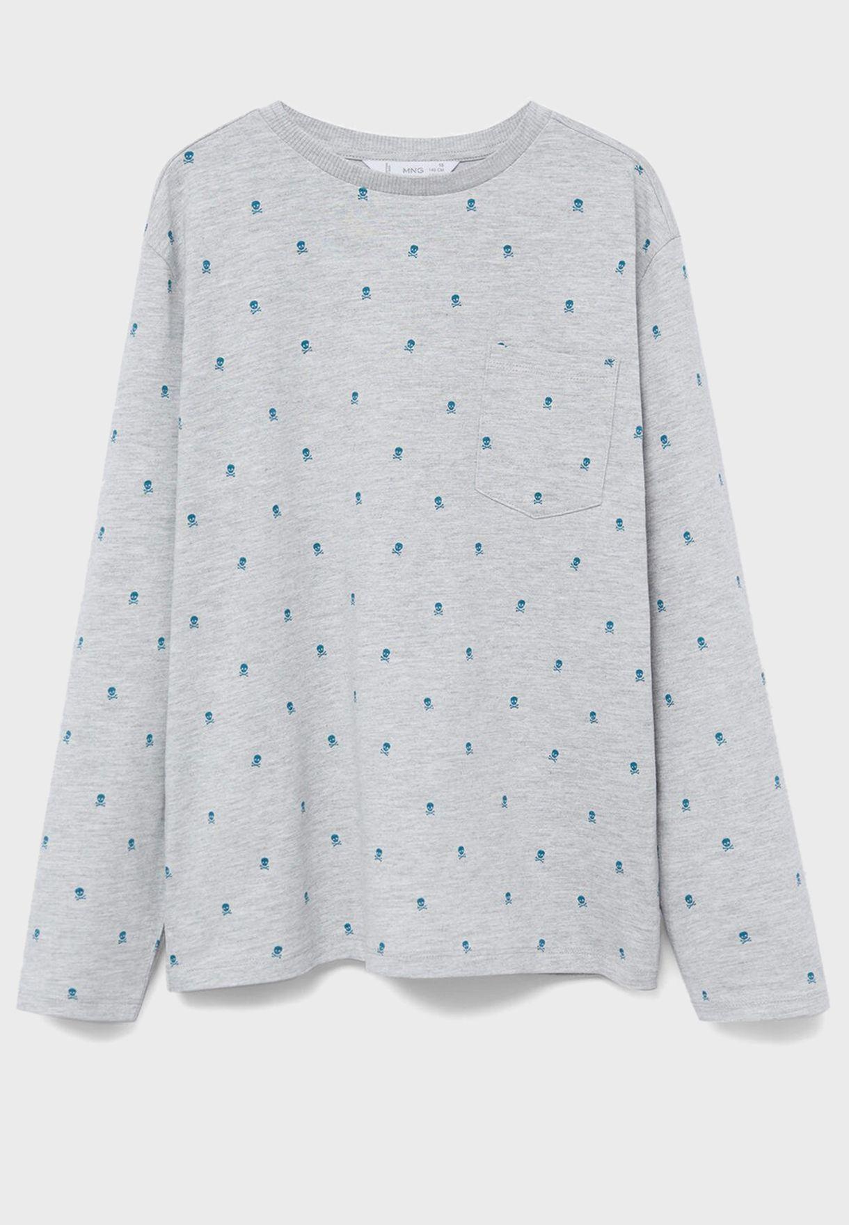 Kids Printed T-Shirt + Pyjama Set