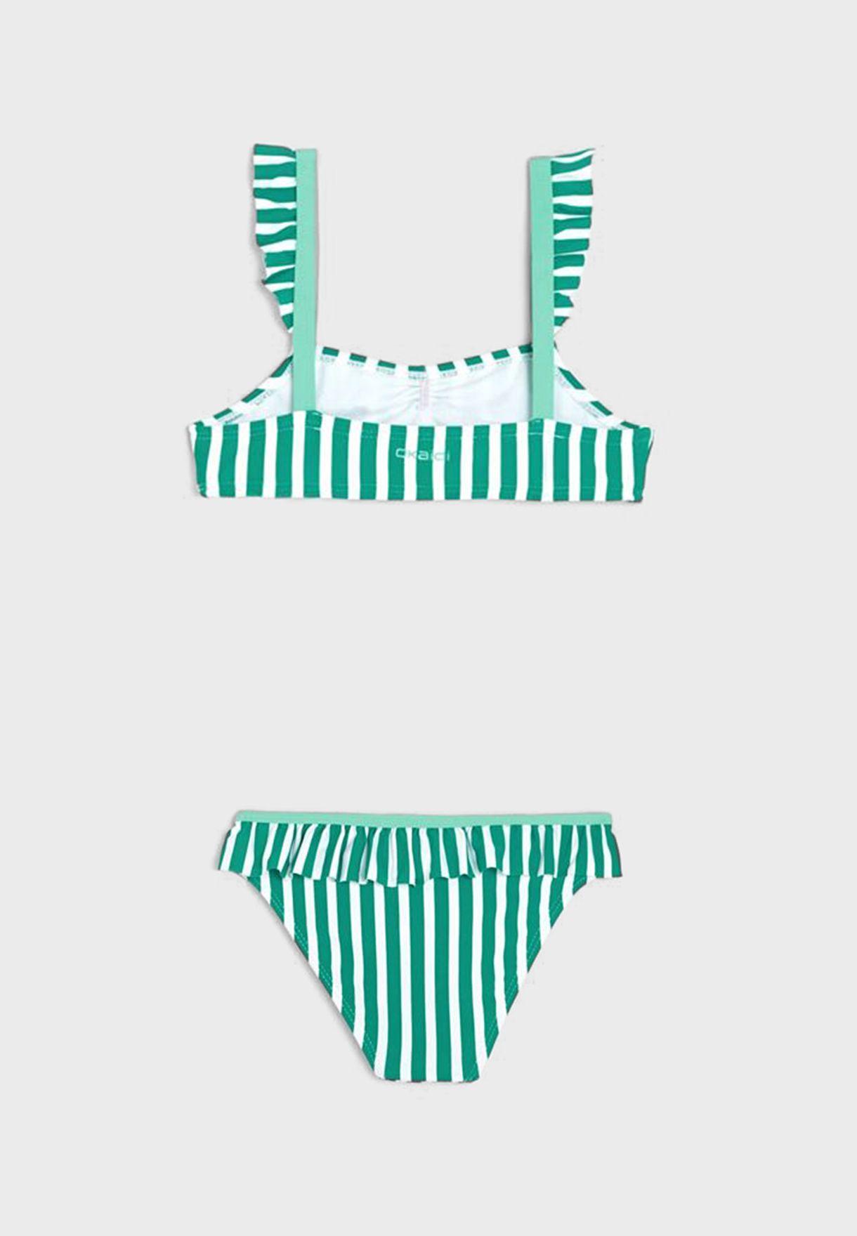 Youth Striped Bikini Set