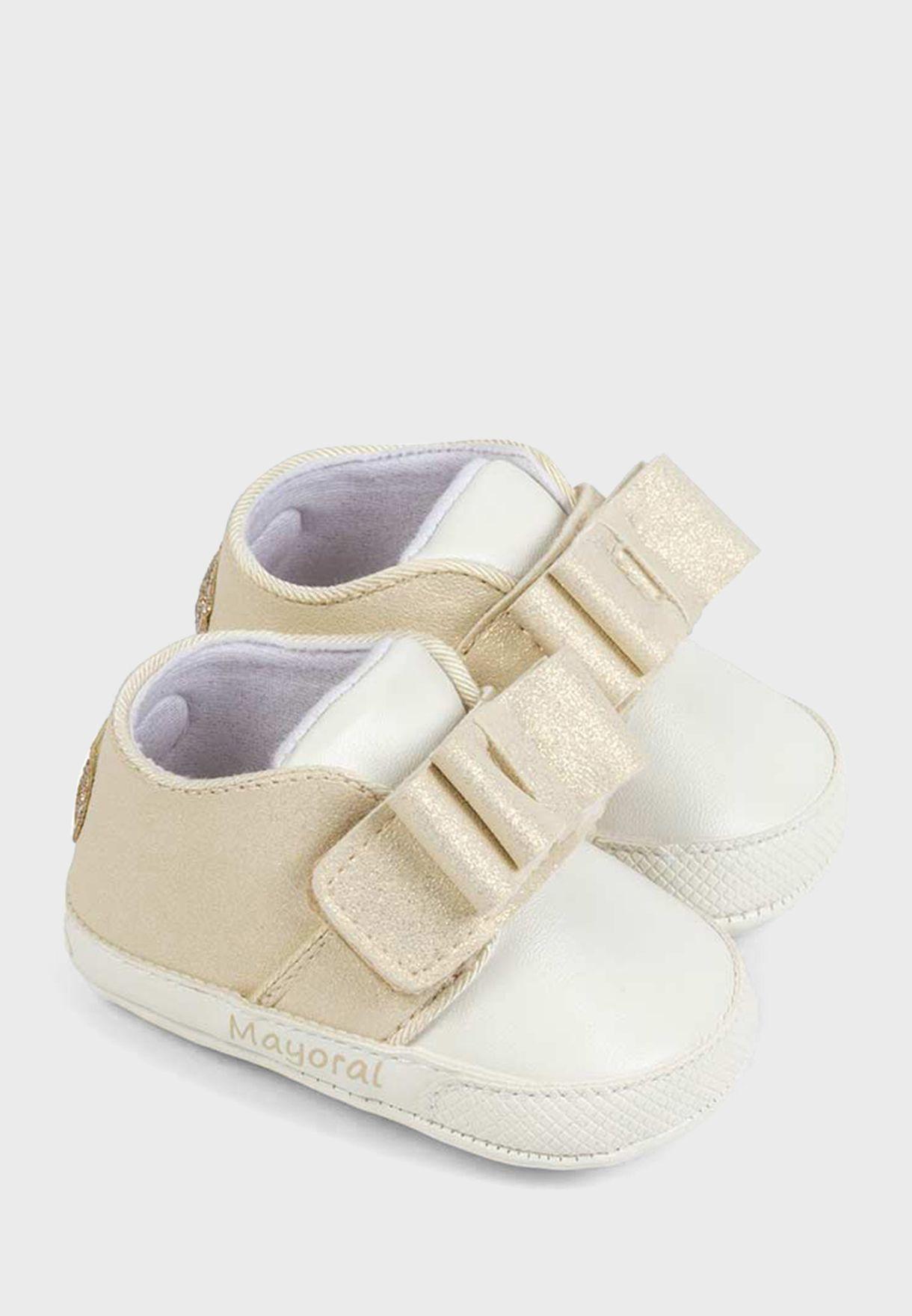 Infant Bow Applique Slip On