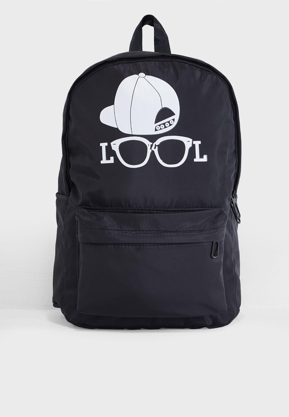 LOOL Print Backpack