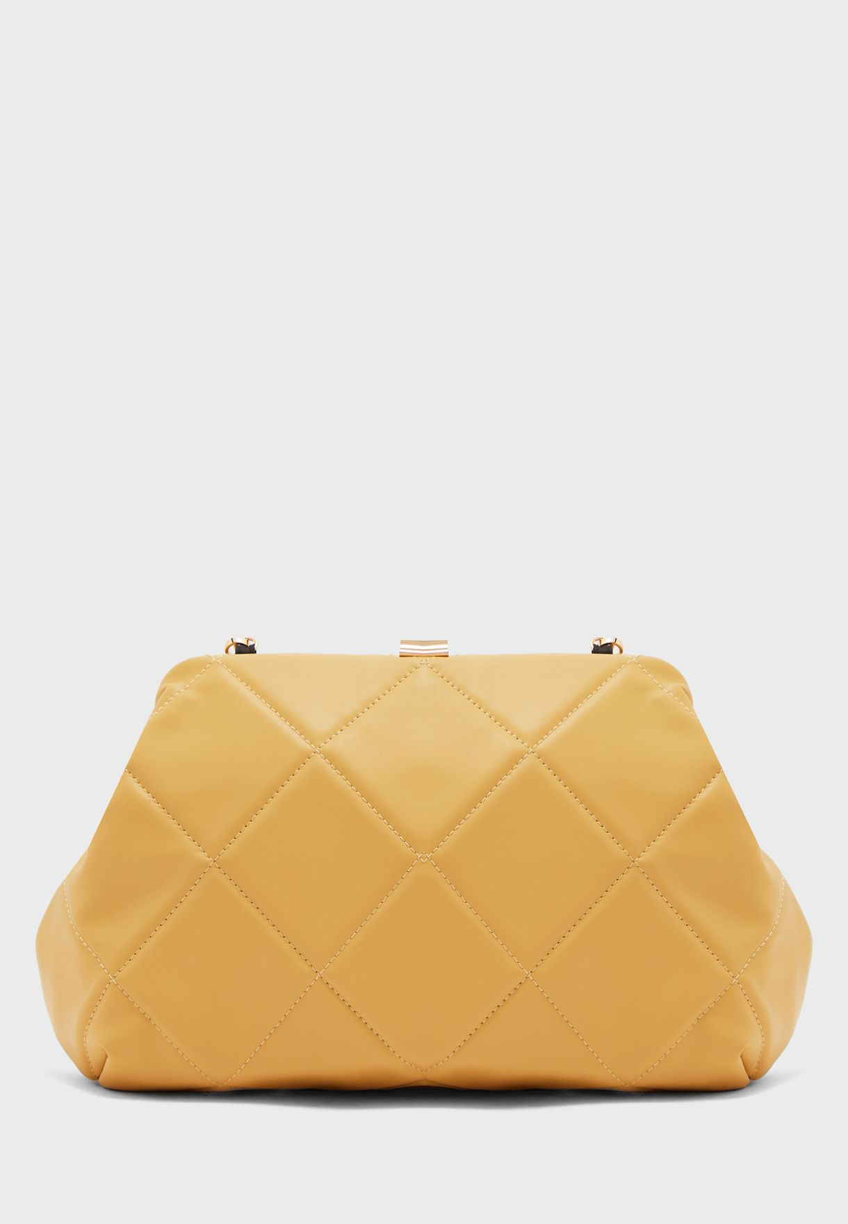 Oversized Quilted Clutch
