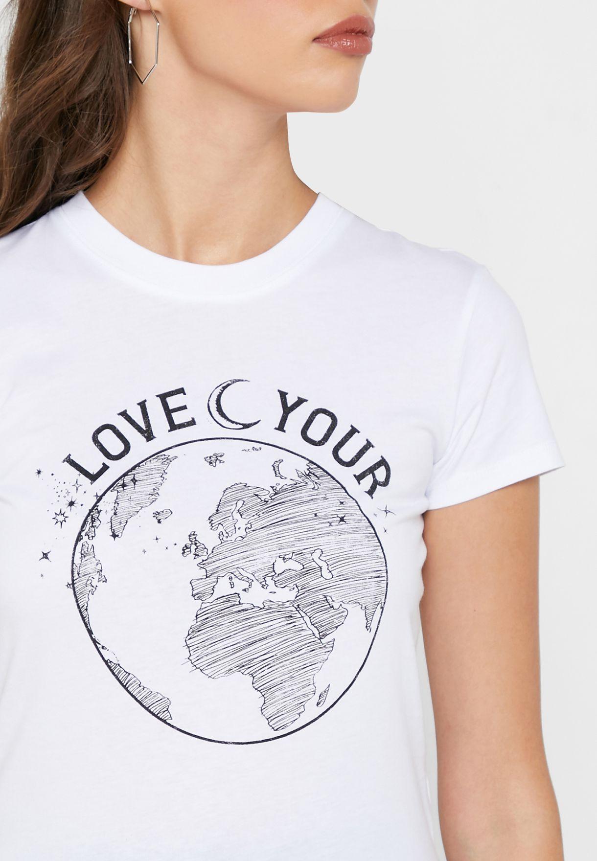 Slogan Graphic T-Shirt