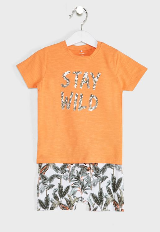 Infant Stay Wild T-Shirt + Shorts Set