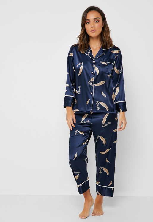 51631392e5a Floral Print Shirt Pyjama Set