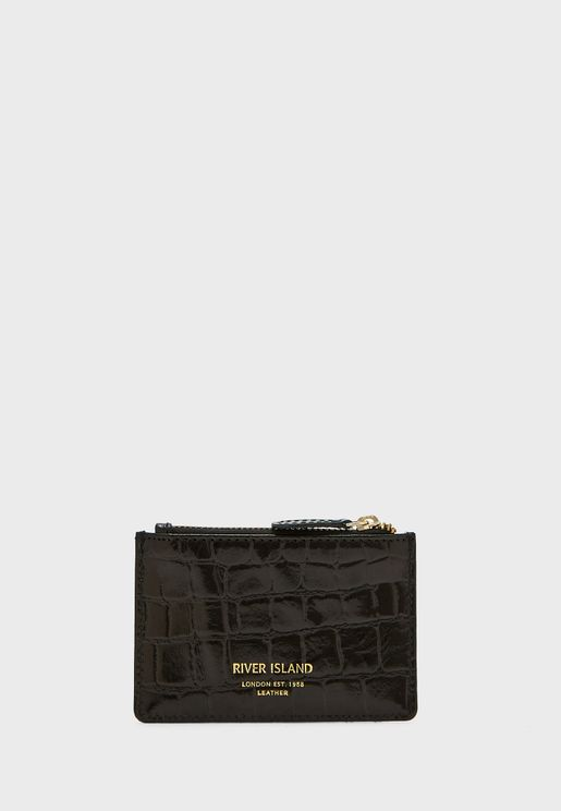 1684 Croc Leather Card Holder