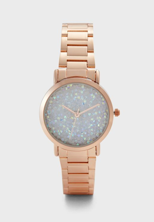 Crystal Dial Bracelet Watch