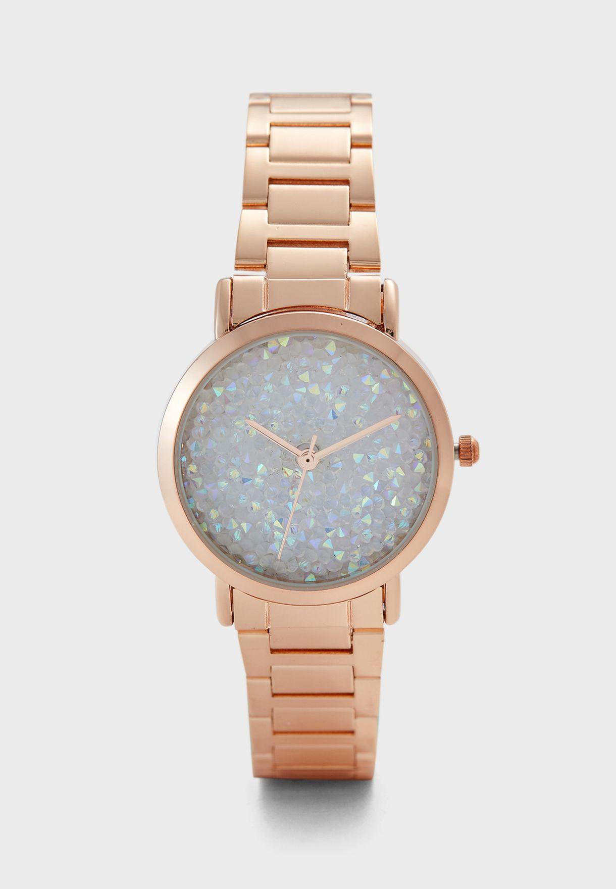 Crystal Dial Bracelet Watch