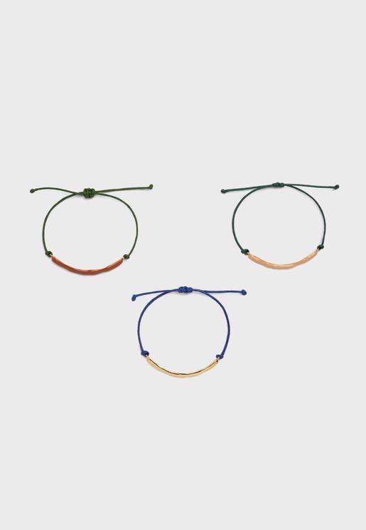 3 Pack Adjustable Bracelets