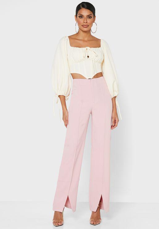 Oversized Split Front Pants