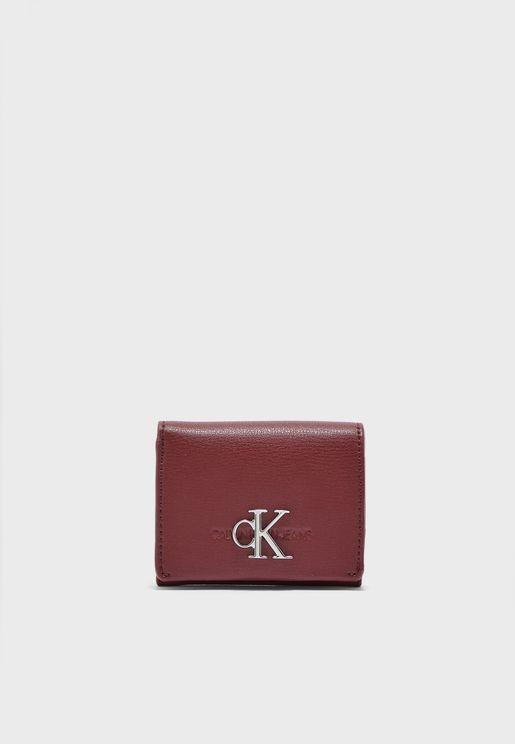 محفظة جلد اصلي بنمط محبب