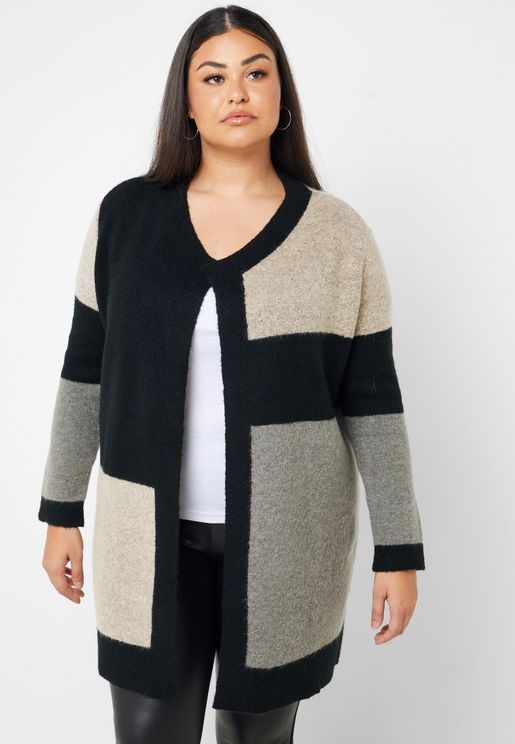 Longline Colorblock Cardigan