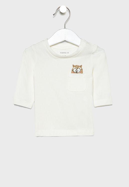 Infant Owl Peecking T-Shirt