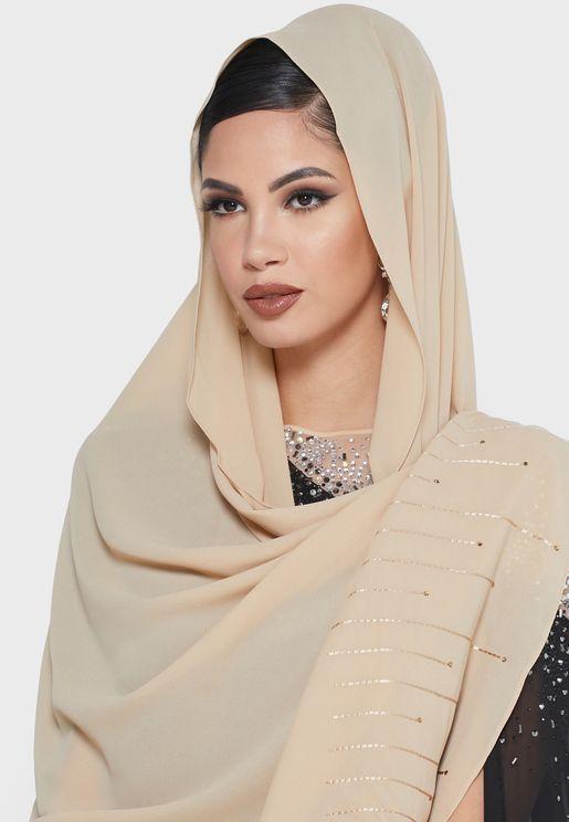 حجاب بتطريز واحجار