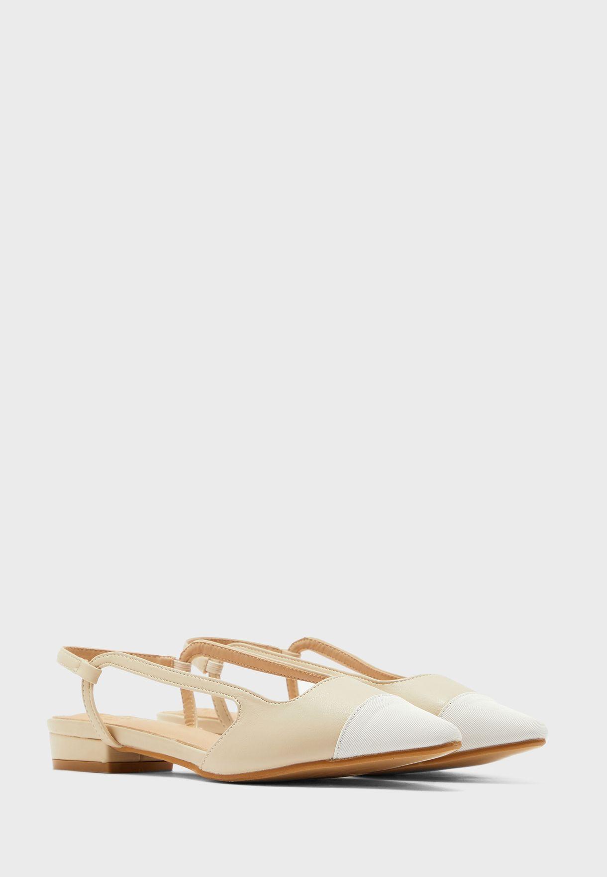 Colourblock Pointed Slingback Shoe