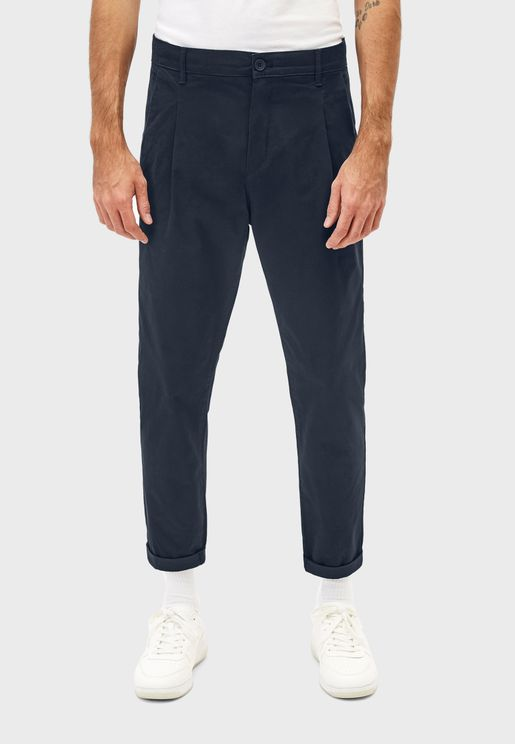 Pleated Relaxed Fit Trousers