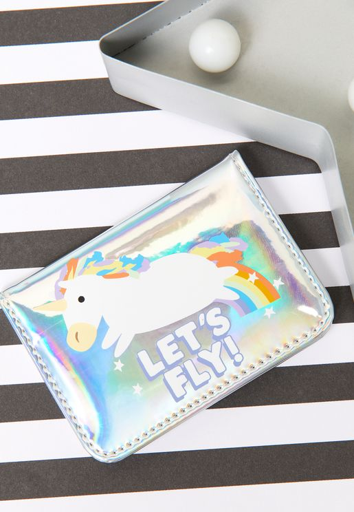 Jolly Awesome Unicorn Lets Fly Passport Holder