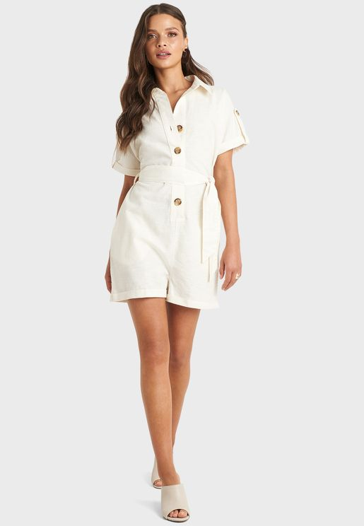 Button Down Playsuit