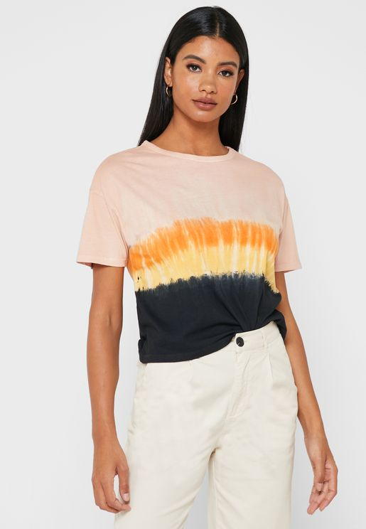 Crew Neck Colorblock T-Shirt