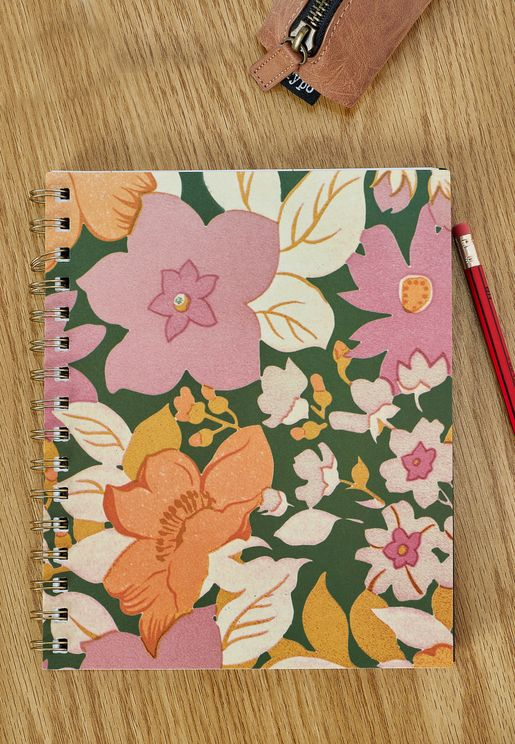 A5 Floral Campus Notebook