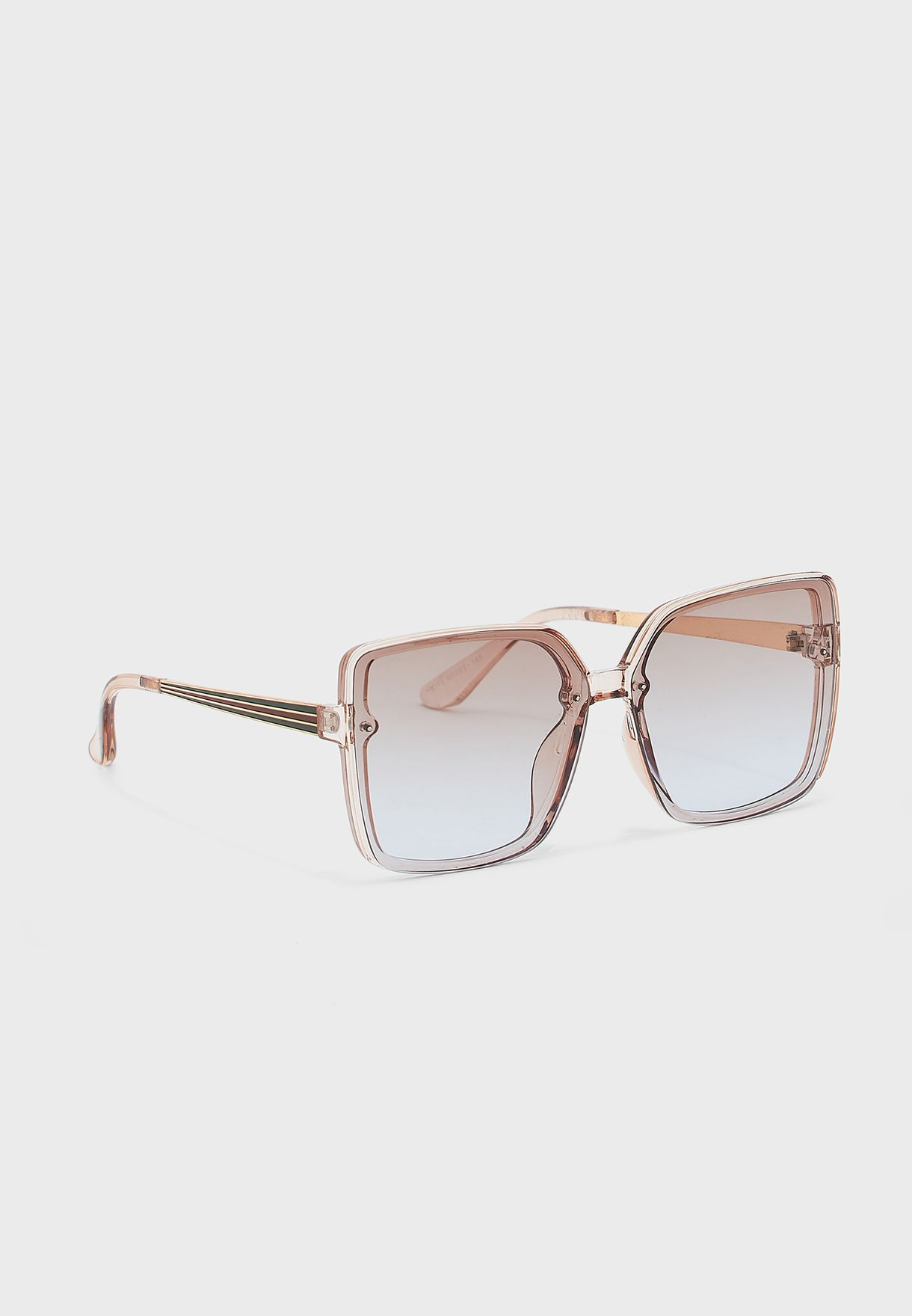 Oversized Square Ombre Lens Sunglasses
