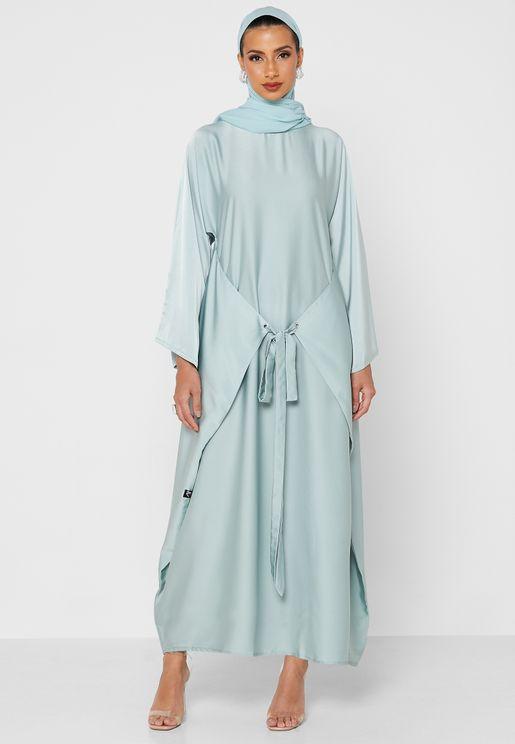Crew Neck Embellished Abaya