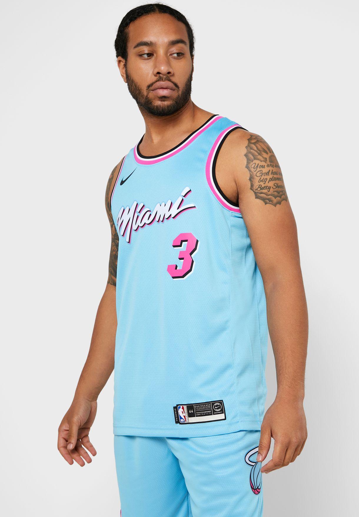 Edition Headless liberal  Buy Nike blue Miami Heat Dwayne Wade Swingman 19 Jersey for Men in Dubai,  Abu Dhabi   AV4650-425