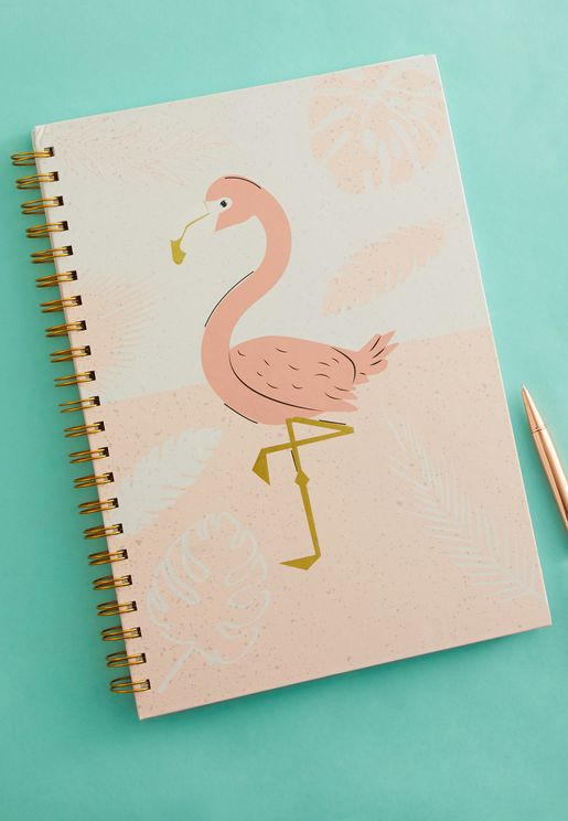 A4 Flamingo Ring Bound Notebook