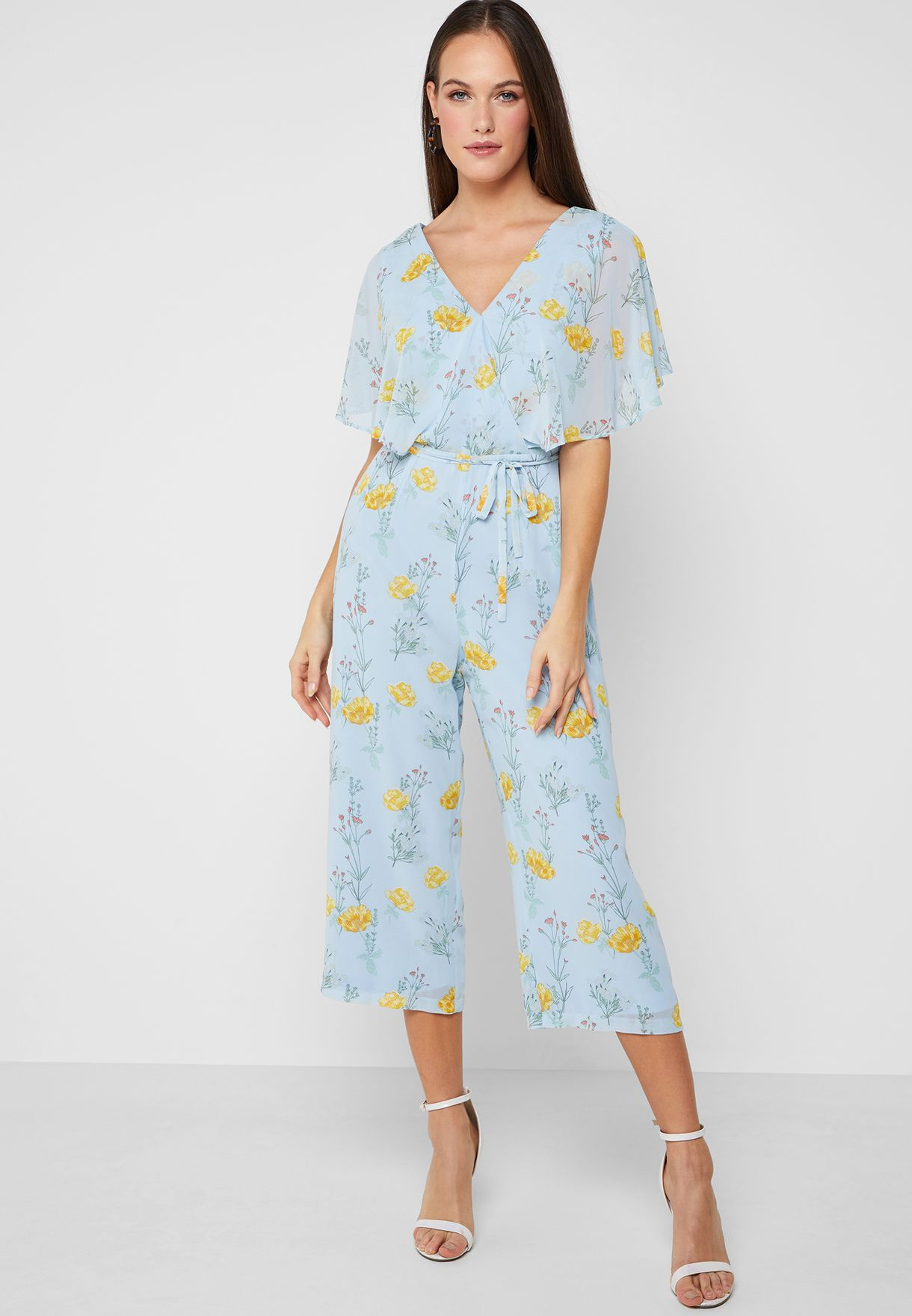 b43dd186ccd Shop Dorothy Perkins blue Floral Print Jumpsuit 7976320 for Women in Kuwait  - 18832AT62FHP