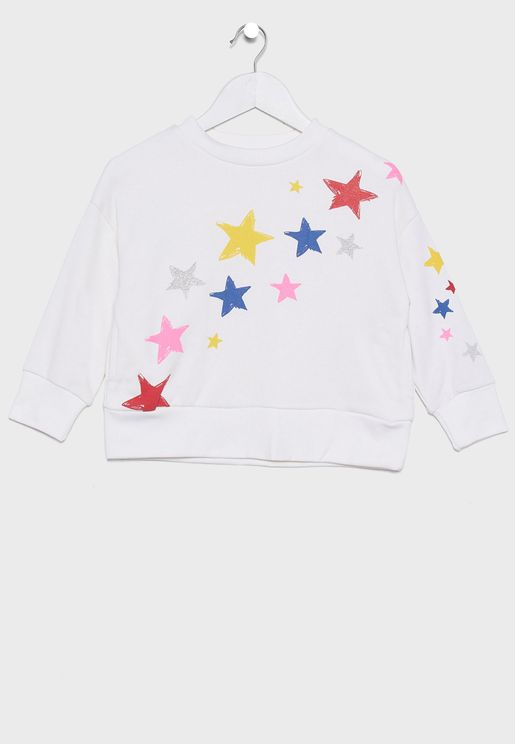 Little Star Print Sweatshirt