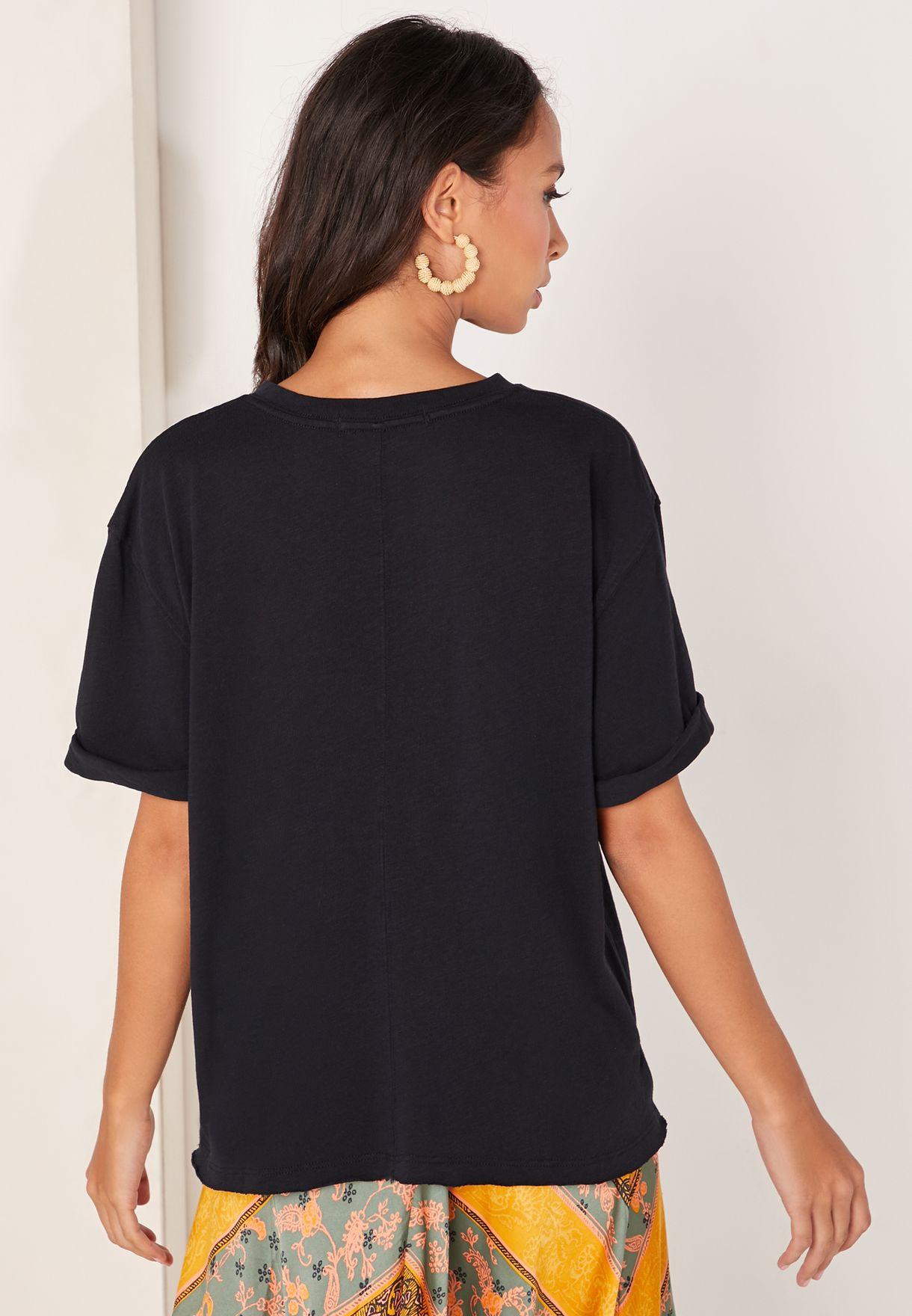 Cassidy Crew Neck Textured T-Shirt