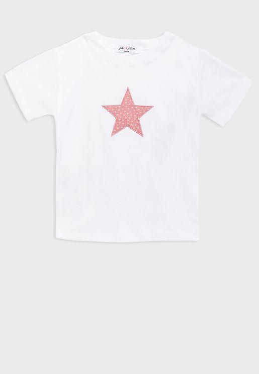 Kids Star T-Shirt + Shorts Pyjama Set