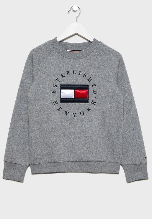 Teen Heritage Logo Sweatshirt