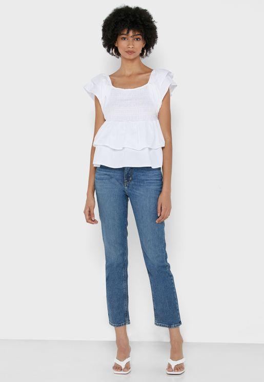 Hghrs St Ank High Waist Straight Jeans